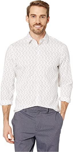 Regular Fit Stretch Geo Print Shirt