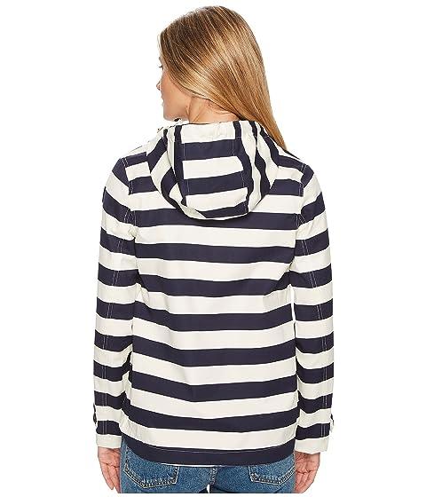 impresa Coast chaqueta franja marino Joules con capucha Impermeable azul dIXqXgxw1