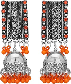 d1bc838e0 Shreyadzines Designer Festive Collection Oxidized Silver Jhumka Jhumki  Dangle Earrings for Women and Girls