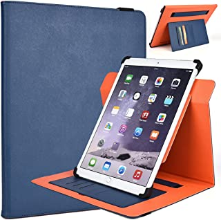 Kroo Samsung ATIV Tab 5 11.6-Inch Rotating 2016 Tablet Cases | Ink Blue/Orange Portrait or Landscape Orientation 360 Stand Cover