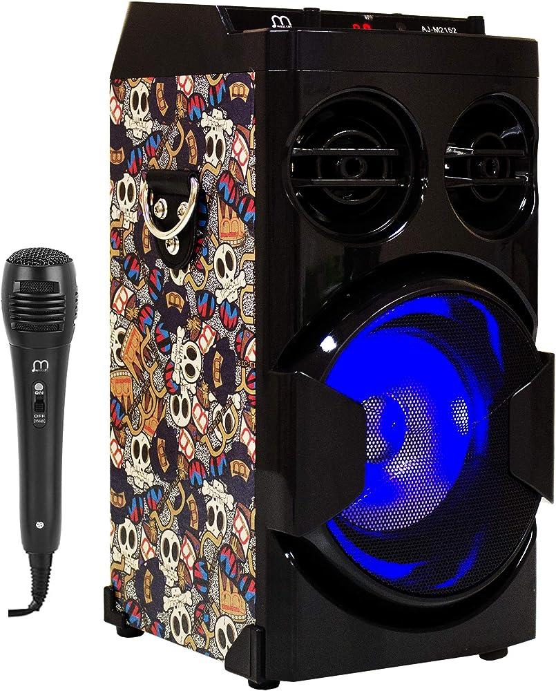Music life altoparlante karaoke con microfono 15 w usb bluetooth radio fm portatile Music Life