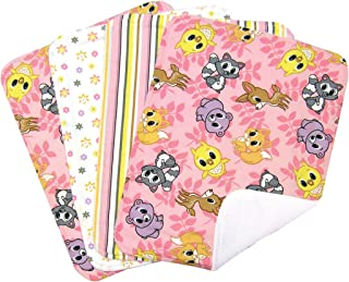 Trend Lab Burp Cloth Set, Lola Fox, 4-Count (Discontinued by Manufacturer)