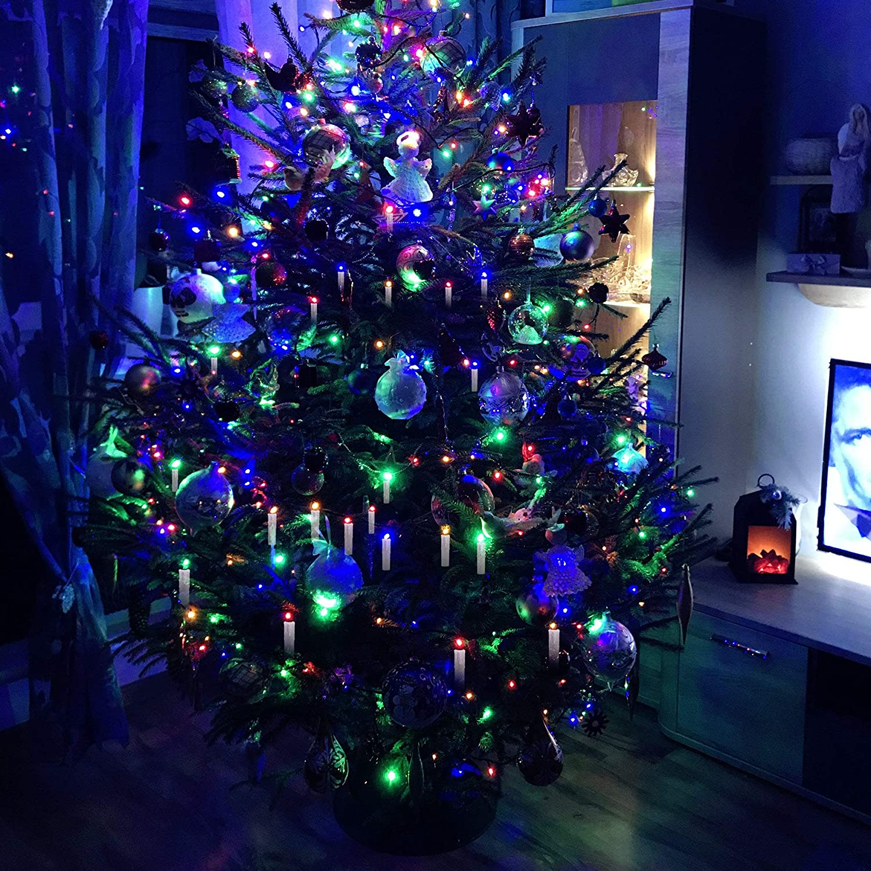 Decorazioni Natalizie A Led.Illuminazione Per Interni Hengda Candele Natalizie Led 10x Candele Rgb Bianco Caldo Bianco Freddo Per Albero Di Natale Con Timer Telecomando Candele Led Dimmerabili Per Albero Di Natale Decorazioni Natalizie Illuminazione