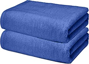 Roseate Ultra Soft 100% Cotton Large Bath Towel Super Absorbent/Anti Bacterial (550 GSM /70x140 cm) Set of 2