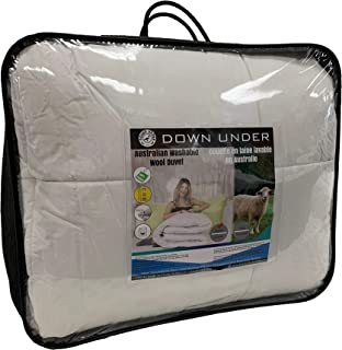 DOWN UNDER Australian Washable Wool Oversized Queen Duvet Comforter Blanket Quilt with Corner Tie Tabs