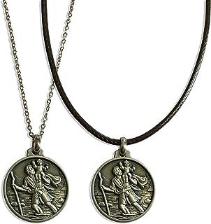 Medaglia di San Cristoforo vista nella serie Netflix DARK - collana religiosa - moneta - ciondolo - Patrono - Santo - Prot...