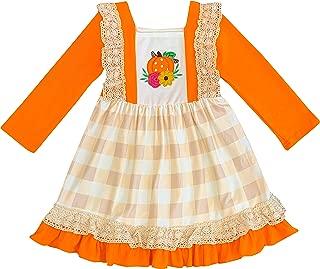 Boutique Baby Toddler Little Girls Fall Colors Halloween Pumpkin or Thanksgiving Turkey Dresses