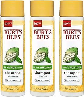 Burt's Bees More Moisture Shampoo, Baobab Scent, 10 Fluid Ounces (Pack of 3)