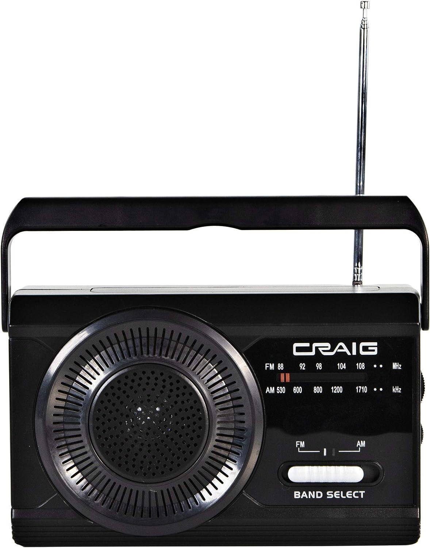 Craig CR4181 Portable Handheld AM FM Radio with Antenna Rod price Time sale Em