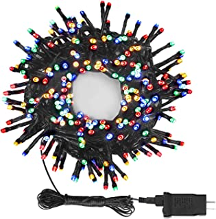 OUSFOT Christmas Multicolor String Lights 300 Colorful LEDs 8 Modes with Memory 30ft (13' of Lights, 17' of Cord & Plug) Waterproof Fairy Decoration for Bedroom Tree Party Wedding