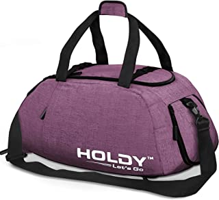 Holdy Sports Gym Bag with Shoes Compartment - Waterproof Travel Duffel Bag Wet Pocket for Men and Women Vibrant Sturdy Smo...