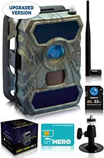 CreativeXP 3G Cellular Trail Cameras - AT&T WiFi Full HD Wild Game Camera with Night Vision for Deer Hunting, Security - Wireless Waterproof and Motion Activated - Tree Mount Included (1-Pack)