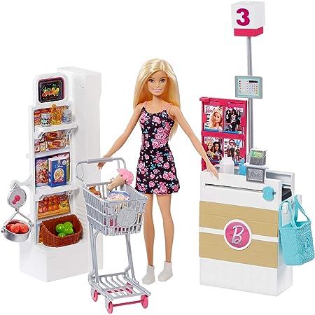 Barbie Muñeca vamos al supermercado, accesorios muñeca, regalo para niñas y niños 3-9 años (Mattel FRP01) , color/modelo surtido