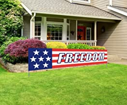 Silvima Large Freedom Banner, Huge Independence Day Sign, Independence Day Party Home Outdoor Decoration