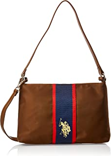 US Polo Womens Clutch Crossbody Bag, Tan - BIUPW0636WIP521