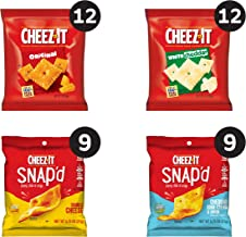 Cheez-It, Snacks, Variety Pack, Made with 100% Real Cheese, 2.359lb Case (42 Count)