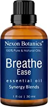Nexon Botanics Breathe Essential Oil Blend 30 ml - Pure, Natural Breathe Easy Synergy from Eucalyptus, Peppermint, Rosemary and Niaouli - Helps Relief Sinus, Colds, Allergy, Flu, Cough and Congestion