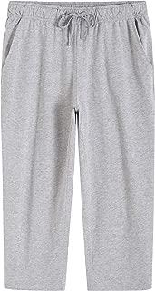 Women's Lounge Pants Cotton Capri Pants with Pockets