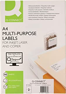 A4, 105 mm, 48 mm, 100 hojas Connect Self-adhesive labels 105 x 48 mm Etiqueta autoadhesiva