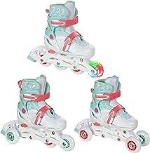 Croxer 3in1 Kinder Inlineskates/Triskates/Rollschuhe Inez verstellbar mit LED leuchtendem Rad
