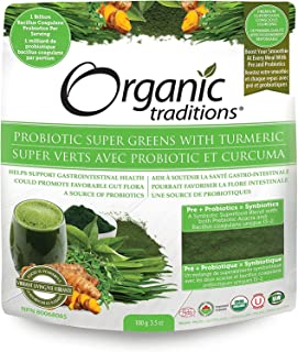 Organic Probiotic Super Greens with Turmeric Powder (21 Servings)