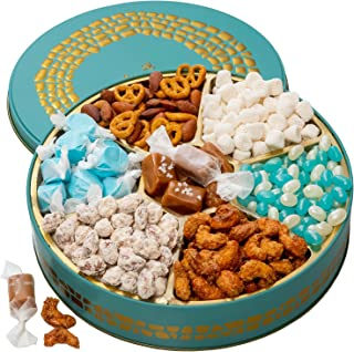 Bonnie and Pop Snack Box Variety Tray, Nuts and Candy Gift Basket - Prime Food Arrangement, - Birthday, Holiday Treat Asso...