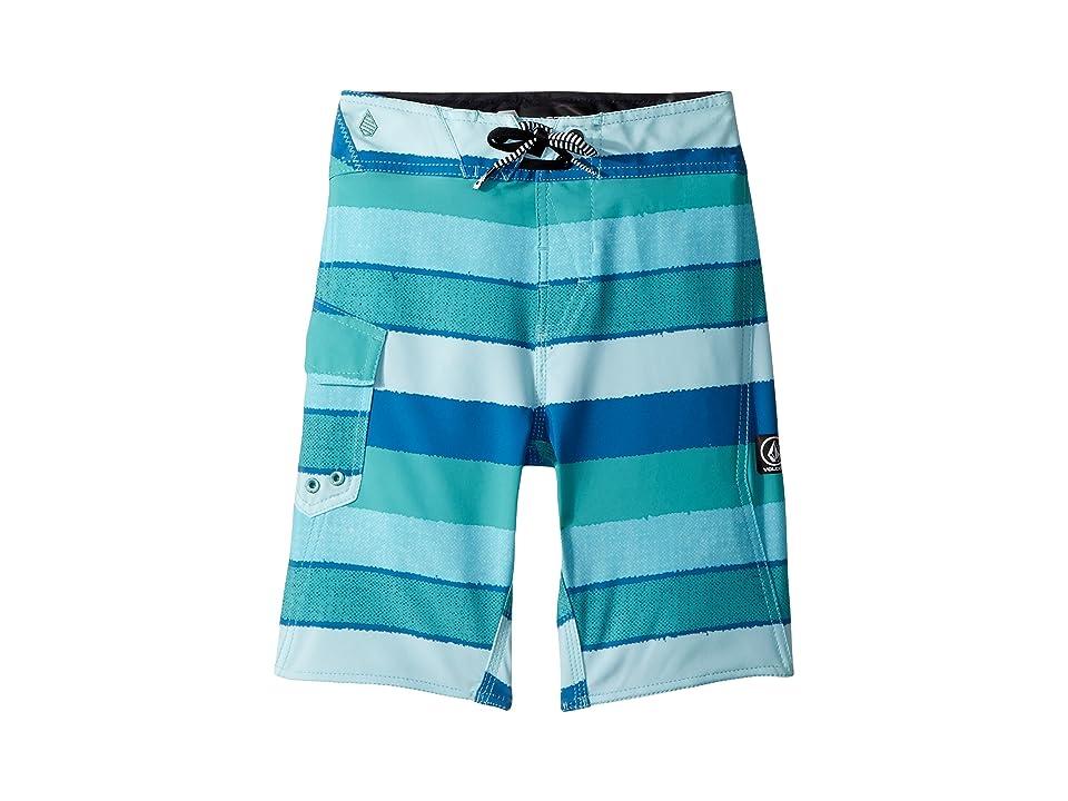 Volcom Kids Magnetic Liney Mod Boardshorts (Big Kids) (Turquoise) Boy