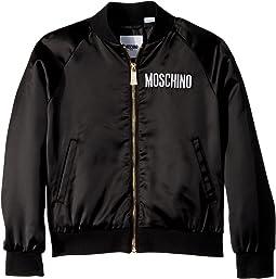 Moschino Kids Jacket w/ Sequin Teddy Bear on Back (Little Kids/Big Kids)