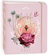 """PAPAYA 2021 Hardcover Deluxe Planner (7.5"""" x 9"""" closed): Love Who You Are"""