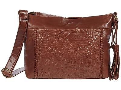 The Sak Melrose Crossbody (Teak Leaf Embossed) Handbags