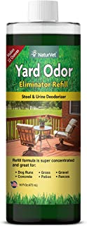 NaturVet – Yard Odor Eliminator | Eliminate Stool and Urine Odors from Lawn and Yard | Designed for Use on Grass, Plants, Patios, Gravel, Concrete & More | 16 oz Refill