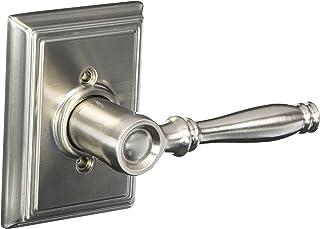 Schlage F170BIR619ADD Satin Nickel Birmingham Single Dummy Door Lever with the Decorative Addison Rosette