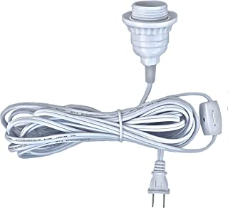 Happy Sales HSCORD-W Hanging Lantern Cord 15'L White (UL Listed)