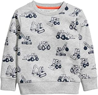 Baby Boy Round Neck Cotton Long Sleeve Pullover Sweatshirt (1-Pack 2-Pack)