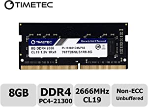 Timetec Hynix IC 8GB DDR4 2666MHz PC4-21300 Unbuffered Non-ECC 1.2V CL19 1Rx8 Single Rank 260 Pin SODIMM Laptop Notebook Computer Memory RAM Module Upgrade (8GB)