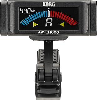 KORG 100時間連続駆動 ギター用 クリップチューナー AW-LT100G ±0.1セントの高精度 カラー表示 ストロボチューニング 単4電池1本 軽量 コンパクト