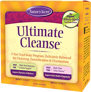 Ultimate Cleanse by Nature's Secret | Cleansing, Detoxification & Elimination, Two 120 Tablet Bottles