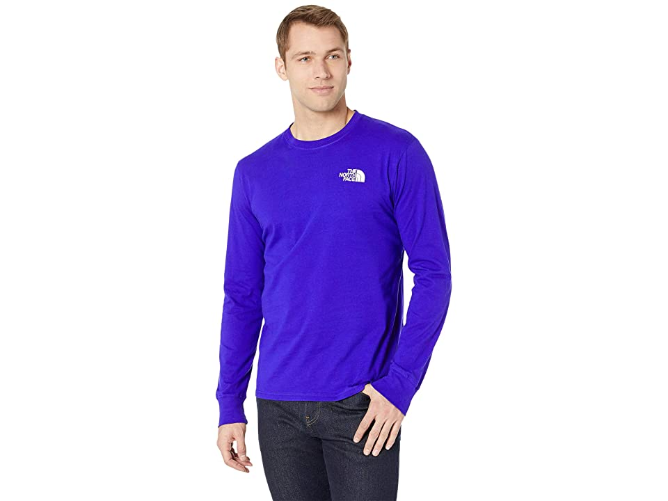 The North Face Long Sleeve Red Box Tee (Aztec Blue/TNF White) Men
