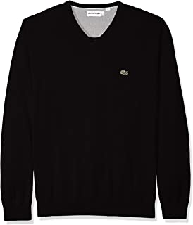 Mens Long Sleeve Half Moon V Neck Jersey Sweater