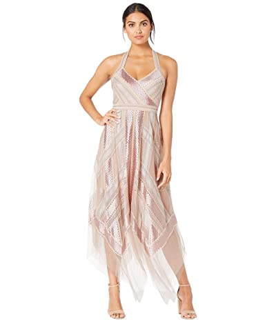 BCBGMAXAZRIA Asymmetrical Hem Gown (Bare Pink) Women