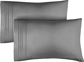 King Size Pillow Cases Set of 2 – Soft, Premium Quality Pillowcase Covers – Machine Washable Protectors – 20x40, 20x36 & 20x48 Pillows for Sleeping 2 PC - King Size Pillow Cover Bedding