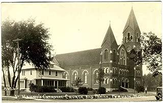 St Henry's Catholic Church & Parish Real Photo Postcard Perham Minnesota 1930's