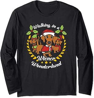 Dachshund Dog Wiener Wonderland Christmas Shirt Long Sleeve Long Sleeve T-Shirt