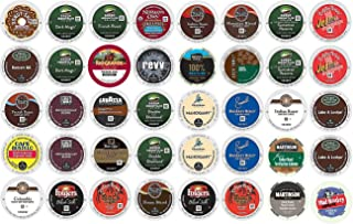 40 Count K Cup 2.0 Variety Sampler Pack - 40 Dark and / or BOLD K Cups for 2.0 and 1.0 Brewers - Green Mountain, Folgers, Martinson, Peet's, Lavazza, Cafe Bustello, Coffee People