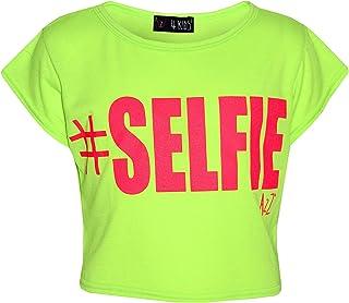e5d048c0b3261 A2Z 4 Kids® Filles Top Enfants  Selfie Imprimer Mode Élégant T Shirt Crop  Top