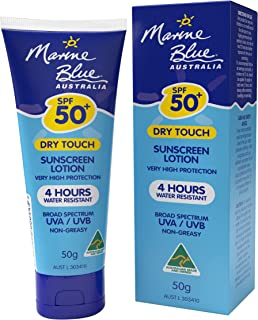 Marine Blue sunscreen SPF 50 lotion 50g , Dry Touch,4 Hour water resistance, Broad Spectrum UAV/UVB, Every day Use , fast ...