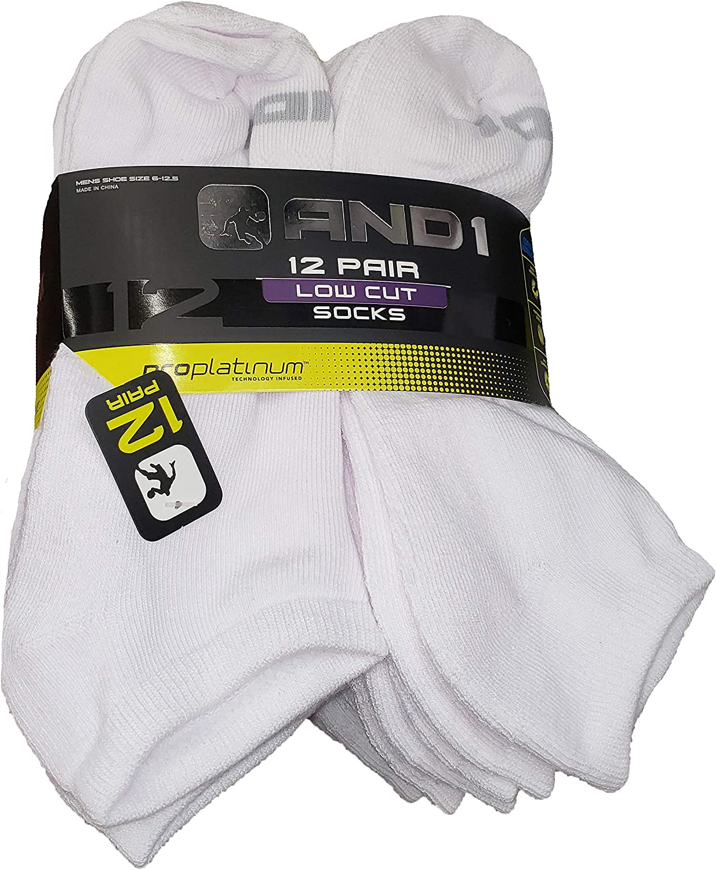 White 12 Pair ProPlatinum Low Cut Socks