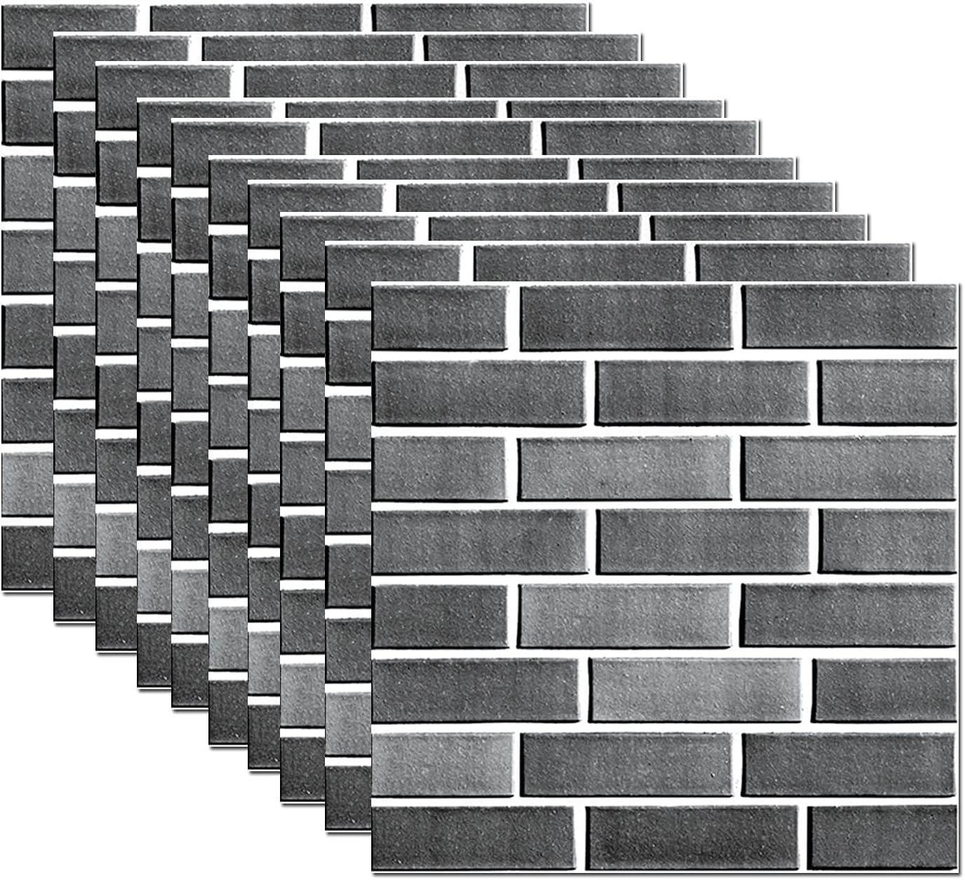 3D Tile Brick Wall Sticker Self-adhesive 3D Foam Wall Panels Pee
