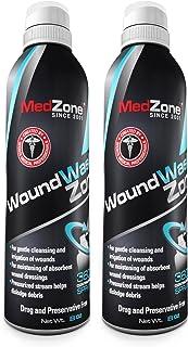 مراقبتهای مراقبتی و شستشوی زخم MedZone - استریل نمک ، اسپری متغیر 8 اونس قوطی (2 بسته)
