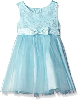Girls' Embroidered Mesh to Tulle Dress